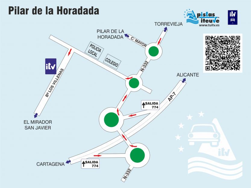 itv pistas iteuve Pilar de la Horadada (Alicante)